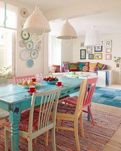 9 Precious Cool Tips: Shabby Chic Desk Rustic shabby chic curtains valances.Shabby Chic Home Country shabby chic interior mason jars.Shabby Chic Home Rustic. House Of Turquoise, Turquoise Table, Teal Table, Diy Table, Turquoise Dining Room, Turquoise Home Decor, Patio Table, Turquoise Kitchen Tables, Coral Kitchen