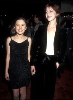 Anna Paquin and Charlotte Gainsbourg at the premiere of 'Jane Eyre,' New York City, April 1996. The two played Jane as a child and as an adu...
