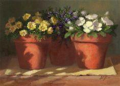 """Mixed Flowers"" - Original Fine Art for Sale - © Linda Jacobus"