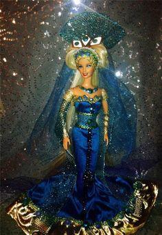 Amphitrite Goddess Queen of Poseidon Ocean Beauty ~Barbie doll OOAK Neptune