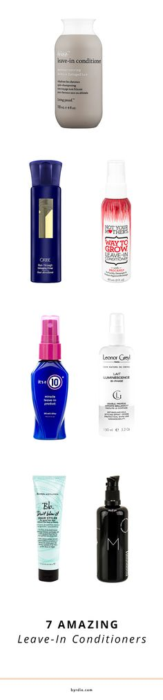 No hair dryer, no problem // the best leave-in conditioners