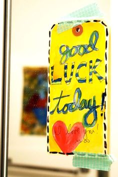 Good ideas for leaving crafty notes for loved ones