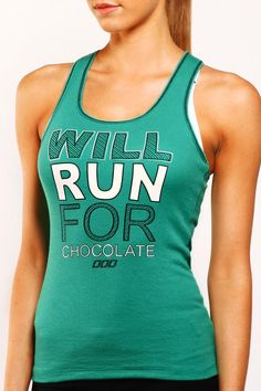 Run 4 Chocolate Tank - Lorna Jane Nerd Outfits, I Love Chocolate, Perfect Wardrobe, Athletic Tank Tops, Tank Man, Active Wear, Exercise, Running, My Style