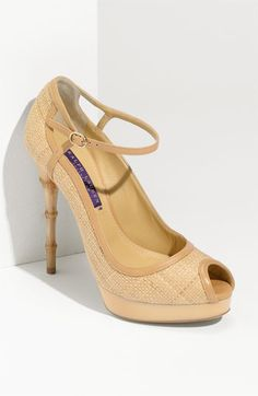 Ralph Lauren getting in touch with nature by implementing a bamboo heel.  I adore them!