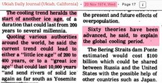 You really can't make this stuff up. Bill McKibben is accusing Exxon of lyingabout global warming in 1977. Given that climate scientists were talking about global cooling in 1977, how could Bill ...