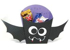 Need a cute treat box for Halloween? We have the French Fry box die-cut used to make this fun bat - bring your own paper and we'll show you how!