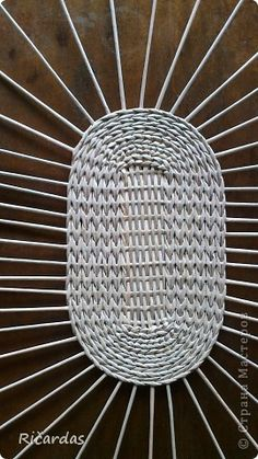 Мастер-класс Плетение Овальная хлебница+маленький МК Бумага газетная Трубочки бумажные фото 5