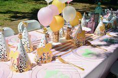 Dining Tablescape from a Carousel 1st Birthday Party via Kara's Party Ideas | KarasPartyIdeas.com (33)