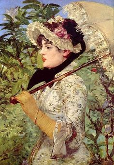Édouard Manet (French artist, 1832-1883) Woman with a Parasol 1881. It's About Time: A Renoir