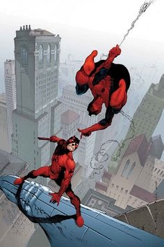 Spider-Man and Daredevil by Vatche Mavlian