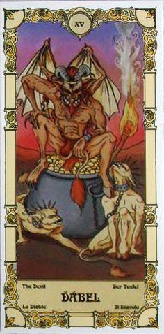 XV The DEvil - Czech Grand Arcana Tarot