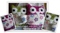 Oliv és Olívia párnák (Owls pillows)