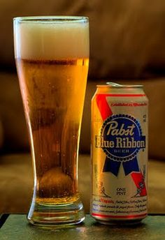 I'm not a beer drinker, but it really isn't bad! Has a smooth finish, beer is usu. too bitter for me, but PBR is alright! Horseshoe Bar, New York Bar, Pabst Blue Ribbon, Beer Photos, Beers Of The World, Dive Bar, Brew Pub, Brewing Company, Craft Beer
