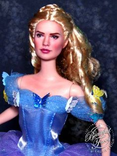 Beautiful Faces by Laurie Leigh - Lily James as Cinderella