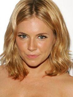 El corte más favorecedor: la melena midi. Sienna Miller hair style