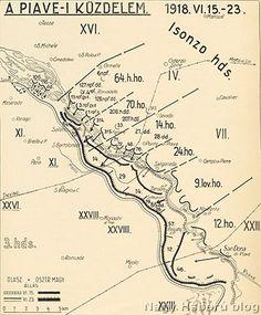 Az Isonzó hadsereg támadási területén folyt harcok vázlata