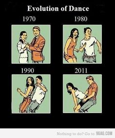 sad but true.....I wanna go back to the 40's when people actually danced.