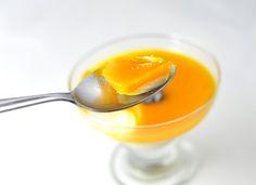 Mango Panna Cotta with Mango Puree