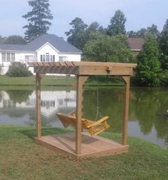 Swing Arbor - pretty affordable! Carolina Backyards custom pergolas, arbors and verandas in Lexington, Chapin, Gilbert, Columbia, SC