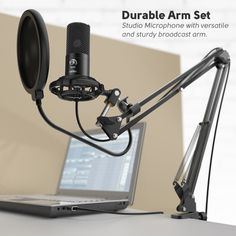 Fifine Studio Condenser Usb Computer Microphone Kit With Adjustable Scissor Arm Stand Shock Mount For Instruments V In 2020 Usb Microphone Microphone Gaming Microphone