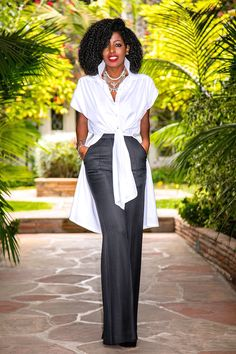 Outfit Details: Shirt (Rachel Comey): Similar here or here Afrocentric Clothing, Style Pantry, Summer Tunics, Merian, Black Women Fashion, African Wear, Business Outfits, Classy Dress, Holiday Outfits