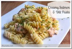 Creamy Salmon and Dill Pasta - Easy Dinner in less than 30 minutes!  The mayo ruins this recipe :-/