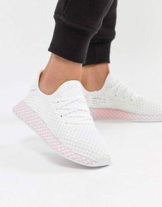 adidas Originals Deerupt Sneakers In White And Lilac Adidas Originals e8c1ff0caa