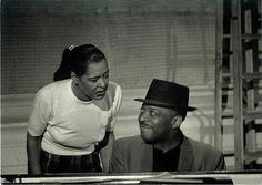 Billie Holiday and Count Basie, Jazz Postcard, Television Studio, New York, Photo: Milt Hinton Jazz Artists, Jazz Musicians, Black Artists, Billie Holiday, Lady Sings The Blues, All About Jazz, Count Basie, Classic Jazz, Bless The Child