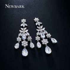Find More Drop Earrings Information about NEWBARK Teardrop Chandelier Earrings…