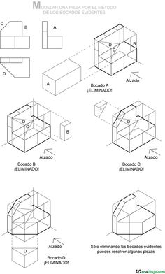 Isometrica modelado de pieza