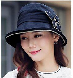 08fccc87db2 Fashion flower bucket hat for women linen sun hats package