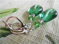 Apple Diamond Earrings Swarovski elements Silver Cuff by JoJosgems, $16.00