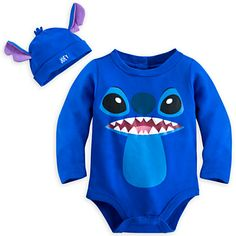 Stitch Bodysuit Costume Set for Baby - Personalizable, Feeling blue, Item No. 4042056233425M