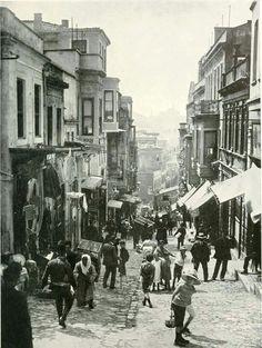 1910'lu yıllarda Mercan Yokuşu - Eminönü
