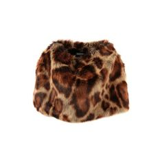 DRIES VAN NOTEN faux fur stole ($500) ❤ liked on Polyvore featuring accessories, scarves, brown faux fur shawl, fake fur scarves, brown scarves, dries van noten and faux fur shawl