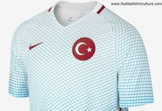This is the new Turkey 2016 Away football shirt by Nike which will be used during the 2016 UEFA European Championship. The 2016 Turkey Stadium Away Football Shirt is made with breathable fabric for lightweight comfort on match day or every day. Uefa European Championship, European Championships, International Soccer, Football Kits, Turkey, Nike, Blog, Shirts, Tops