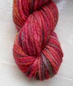 Hand painted yarn   alpaca merino acrylic mix by SpinningStreak