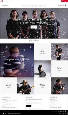 Merchato is a unique, mosaic inspired #WordPress theme for creating the #engaging, media-rich content required for #band and #musician websites download now➩ https://themeforest.net/item/merchato-music-and-band-ecommerce-wordpress-theme/19236065?ref=Datasata