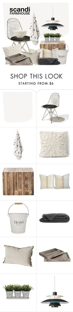"""""""Scandi Farmhouse"""" by jill-bh ❤ liked on Polyvore featuring interior, interiors, interior design, home, home decor, interior decorating, Herman Miller, Lands' End, InterDesign and Torre & Tagus"""