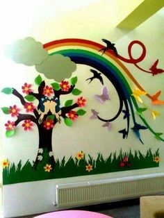 Classroom walls - 16 Decorating Ideas to Make A Cheerful and Fun Classroom Decoration Creche, Board Decoration, Class Decoration, School Decorations, Wall Decorations, Classroom Wall Decor, Classroom Walls, Classroom Fun, Diy And Crafts