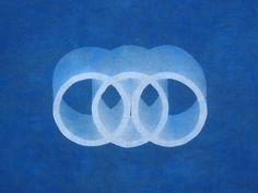 Triad: Cyanotype from ceramic sculpture