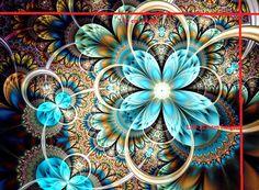 Stenzo16 8844 Tricot digitaal paneel fantasie turquoise
