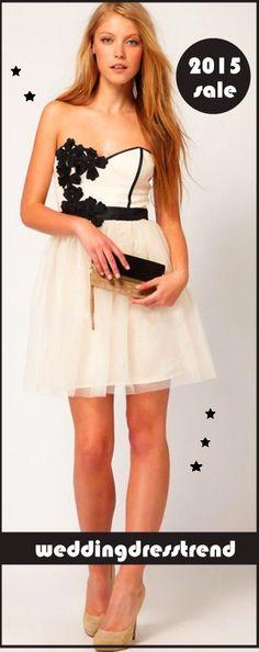 Dress cute. Life is too short to blend in. http://www.weddingdresstrend.com/en/strapless-ruched-bodice-ruffled-skirt-short-cocktail-dress.html