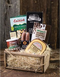 stew s wow gourmet gift basket with meat cheese and nuts