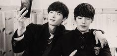 gif2 eugh so cute school 2013 kim woo bin lee jong suk i love this otp so much