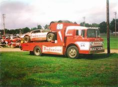 Cool Car Haulers ~ Budweiser Dirt Track Race Car TheGentlemanRacer.com