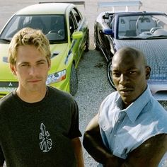 2 Fast 2Furious Brian O'connor/Paul Walker Roman Pierce/Tyrese Gibson Best Friends/Brothers