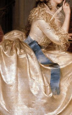 Traveling through history of Art...Portrait of the Princess of Lamballe, detail, by Anton Hickel, 1788.