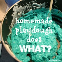 crayonfreckles: homemade playdough does what? #preschool