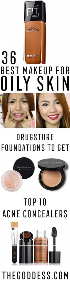 Beauty Hacks : Picture Description Best Makeup for Oily Skin - Some of the Best Drugstore Foundation, Powder, Concealer, and Primer Products for Oily Skin Mac Makeup, Oily Skin Makeup, Best Drugstore Makeup, Make Up Tutorial Eyeshadows, Make Up Tutorial Contouring, Makeup Tutorial Foundation, Make Up Tutorials, Best Makeup Tutorials, Makeup Ideas